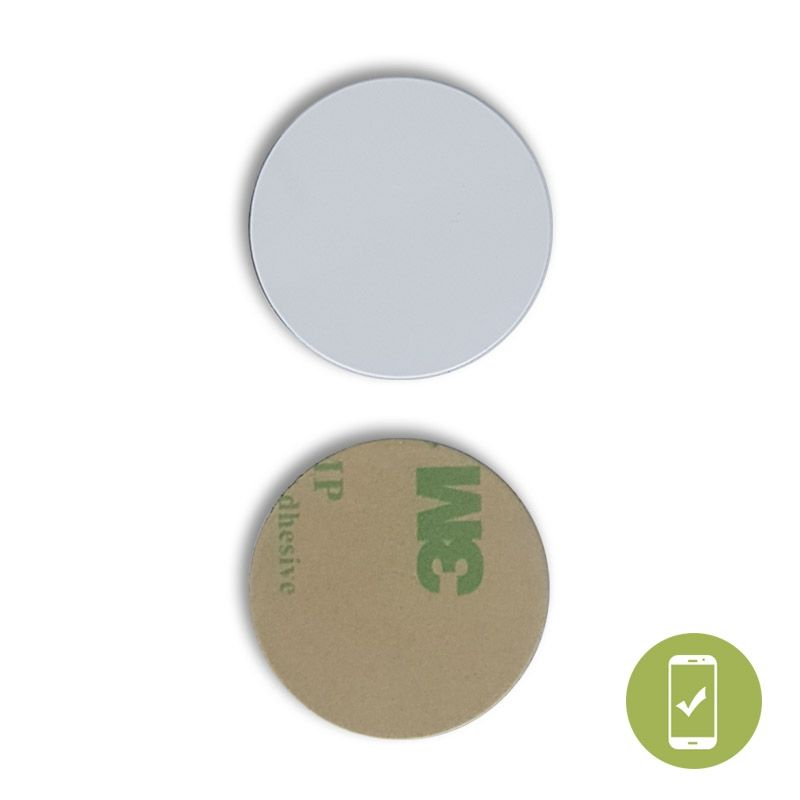 29 MM ROUND ON METAL NFC STICKER - NTAG213