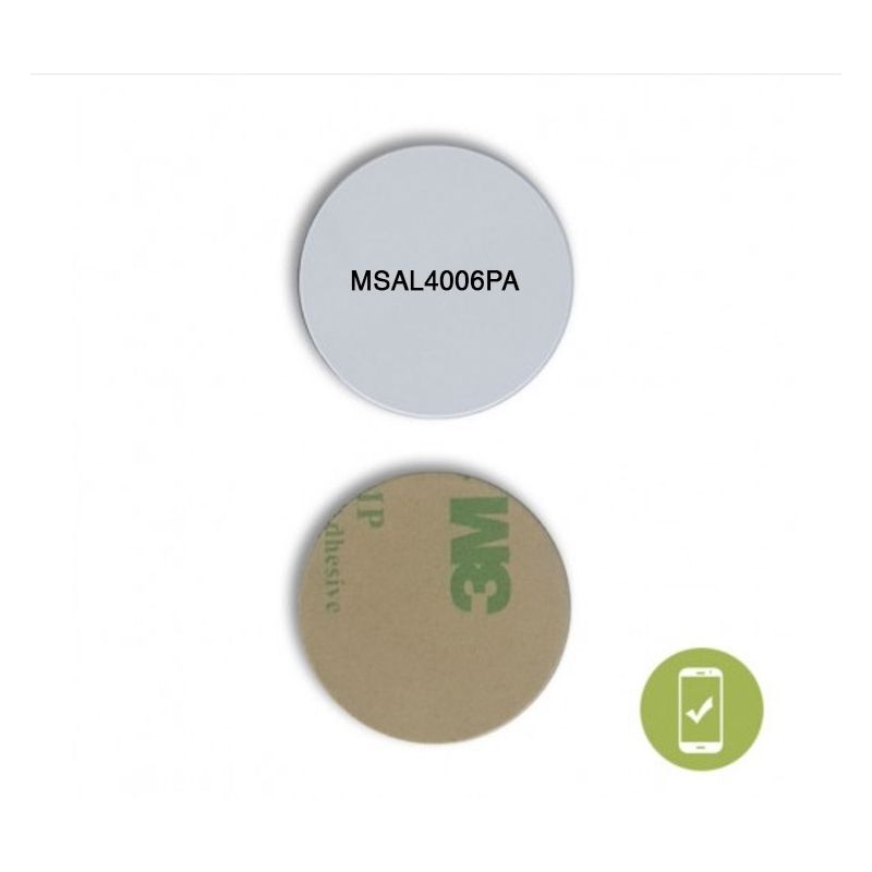 29 MM ROUND ON METAL NFC STICKER - NTAG213  WITH VARIABLE ID